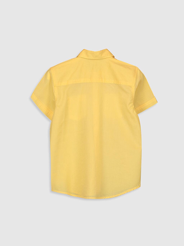 %100 Pamuk Düz Standart Kısa Kol Erkek Çocuk Kısa Kollu Pamuklu Gömlek