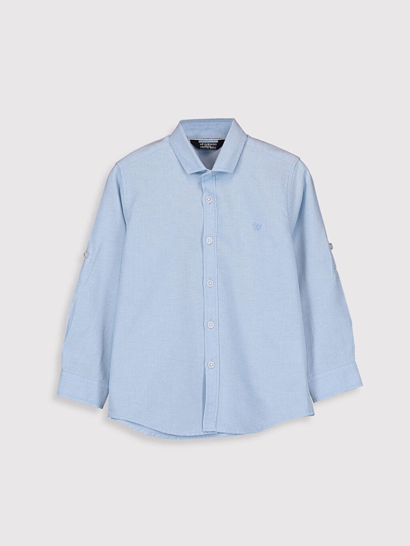 Mavi Erkek Çocuk Uzun Kollu Oxford Gömlek 0S0894Z4 LC Waikiki