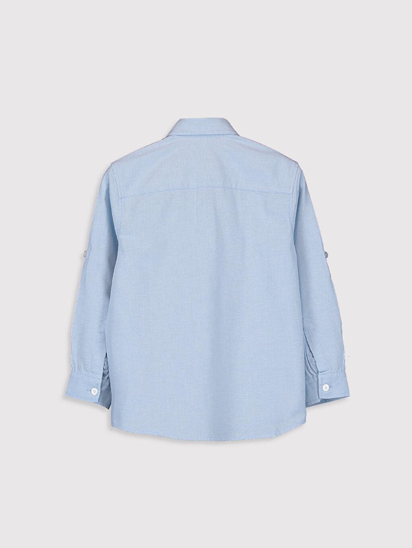 %75 Pamuk %25 Polyester Aksesuarsız Gömlek Standart Oxford Uzun Kol Düz %100 Pamuk Orta Kalınlık Erkek Çocuk Uzun Kollu Oxford Gömlek