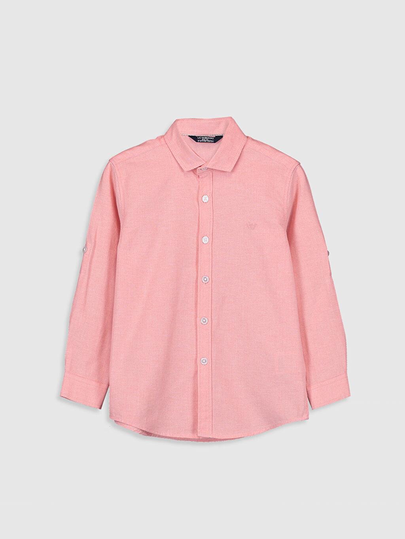 Mercan Erkek Çocuk Uzun Kollu Oxford Gömlek 0S0894Z4 LC Waikiki