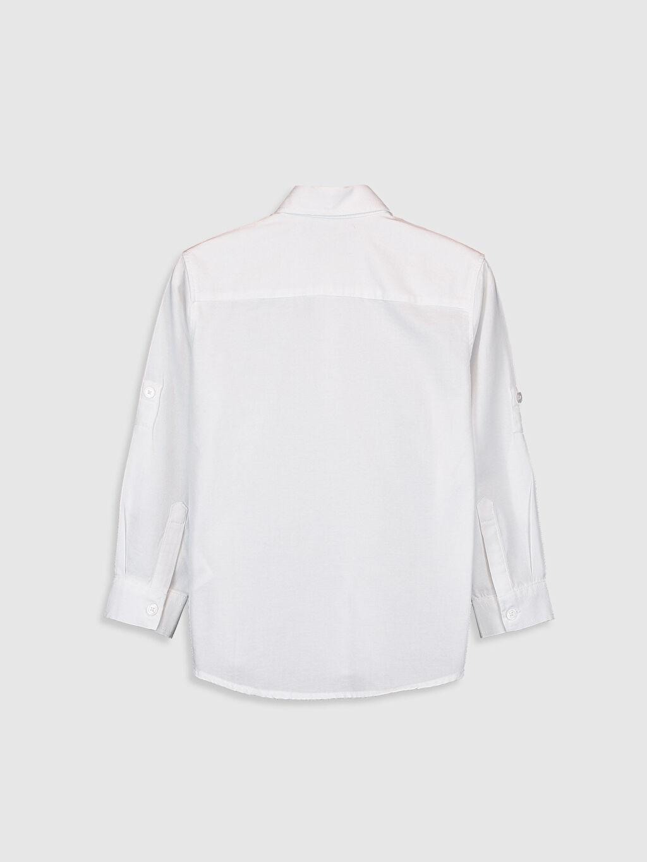 %75 Pamuk %25 Polyester Aksesuarsız Gömlek Standart Oxford Uzun Kol Düz %100 Pamuk Erkek Çocuk Uzun Kollu Oxford Gömlek