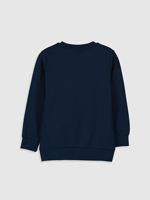 %67 Pamuk %33 Polyester Düz Bisiklet Yaka İki İplik Sweatshirt %100 Pamuk Erkek Çocuk Yazı Baskılı Sweatshirt