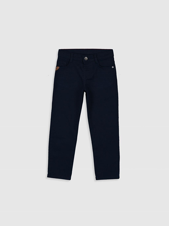 Lacivert Erkek Çocuk Slim Gabardin Pantolon 0S1065Z4 LC Waikiki
