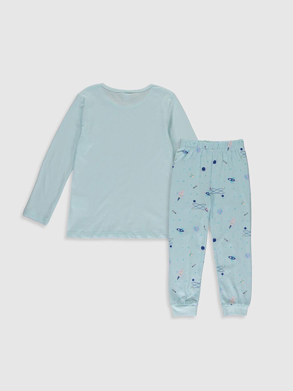 %100 Pamuk İnce Uzun Kol Standart Süprem Pijama Takım Kız Çocuk Baskılı Pamuklu Pijama Takımı