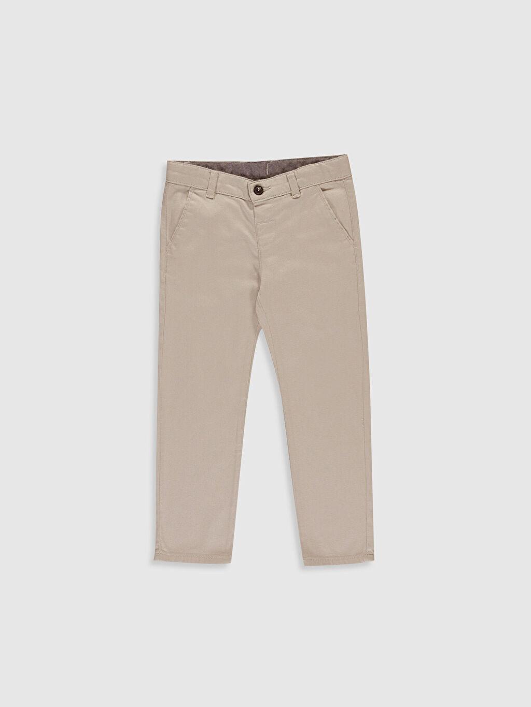 %98 Pamuk %2 Elastan Normal Bel Astarsız Dar Pantolon Aksesuarsız Düz %100 Pamuk Orta Kalınlık Erkek Çocuk Pantolon