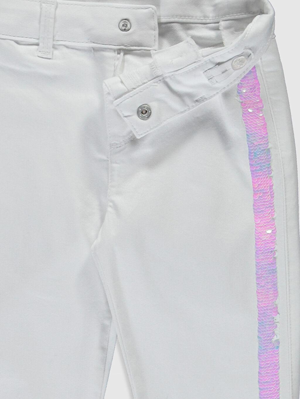 Kız Çocuk Kız Çocuk Pul İşlemeli Skinny Pantolon