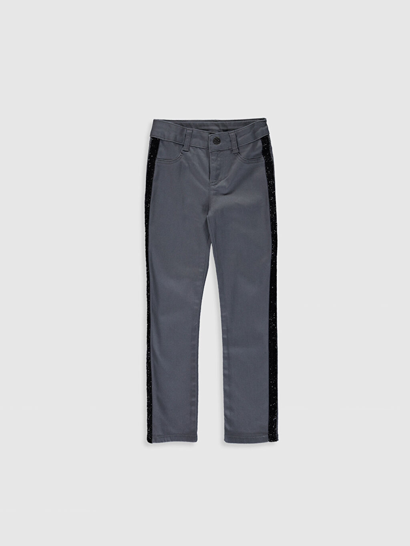 Gri Kız Çocuk Slim Pantolon 0S1522Z4 LC Waikiki
