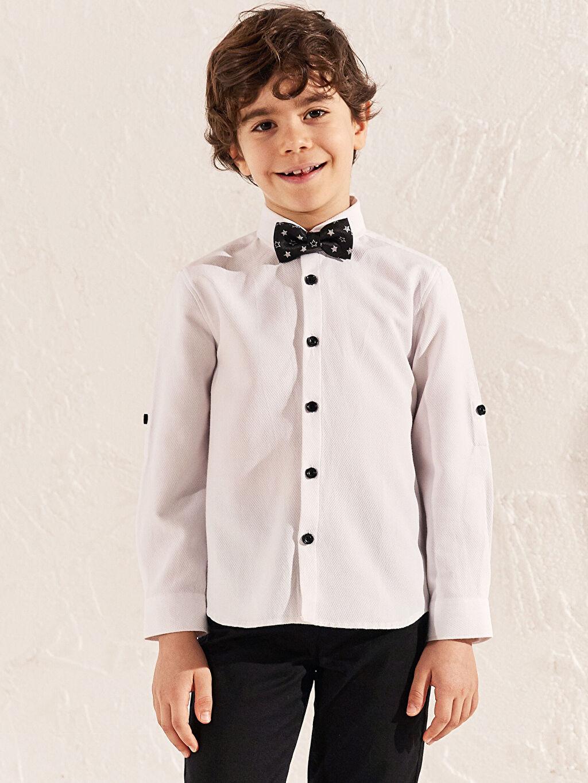 Beyaz Erkek Çocuk Gömlek ve Papyon 0S1557Z4 LC Waikiki