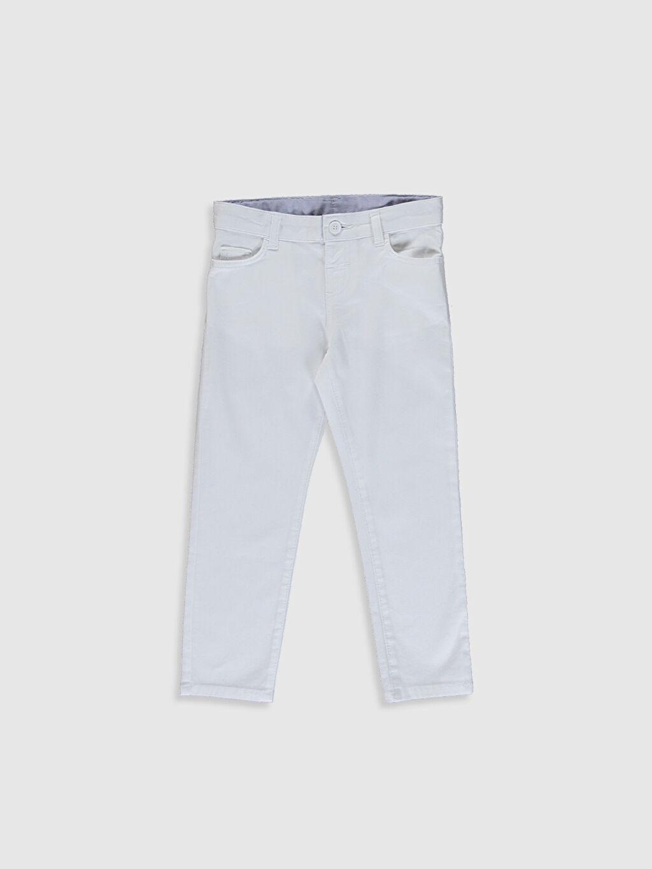 %97 Pamuk %3 Elastan Orta Kalınlık Aksesuarsız Normal Bel Astarsız Dar Beş Cep Pantolon Düz Gabardin %100 Pamuk Erkek Çocuk Slim Gabardin Pantolon