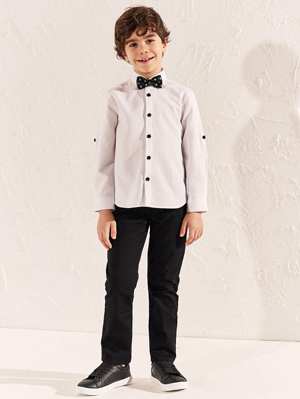 Siyah Erkek Çocuk Slim Gabardin Pantolon 0S1607Z4 LC Waikiki