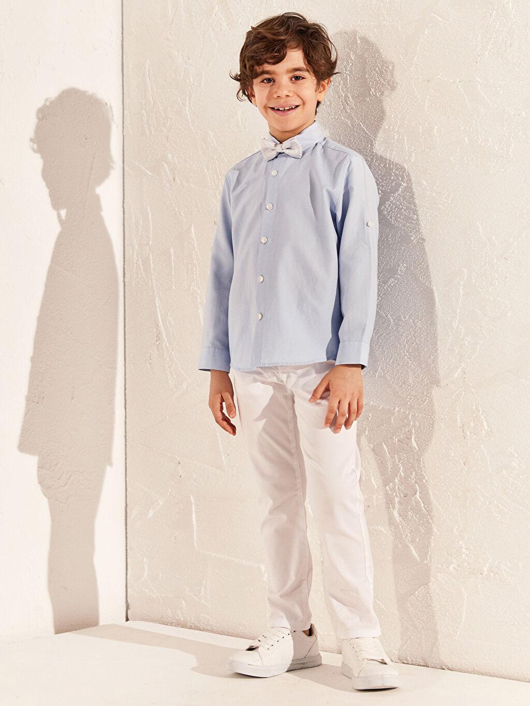 Beyaz Erkek Çocuk Slim Gabardin Pantolon 0S1607Z4 LC Waikiki