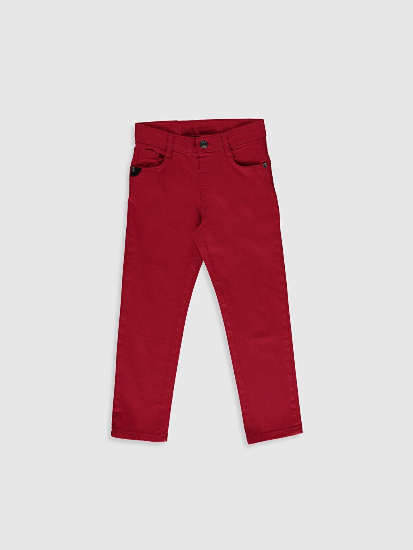 %97 Pamuk %3 Elastan Orta Kalınlık Gabardin Aksesuarsız Normal Bel Astarsız Dar Beş Cep Pantolon Düz %100 Pamuk Erkek Çocuk Pantolon