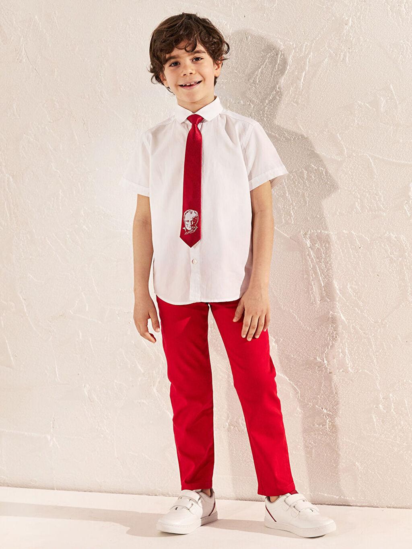 Kırmızı Erkek Çocuk Pantolon 0S1694Z4 LC Waikiki