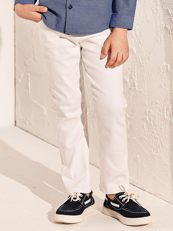Beyaz Erkek Çocuk Pantolon 0S1694Z4 LC Waikiki