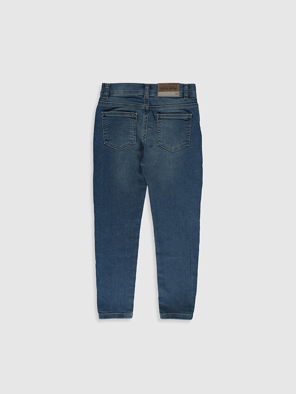 %64 Pamuk %32 Polyester %4 Elastan Normal Bel Dar Erkek Çocuk Super Skinny Jean Pantolon