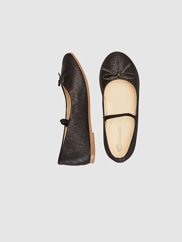 %0 Tekstil malzemeleri (%100 poliester)  Kız Çocuk 25-30 Numara Babet Ayakkabı
