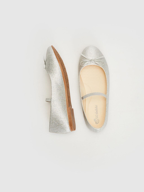%0 Tekstil malzemeleri (%100 poliester)  Kız Çocuk 31-36 Numara Babet Ayakkabı