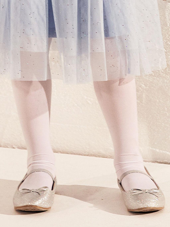 Gri Kız Çocuk 31-36 Numara Babet Ayakkabı
