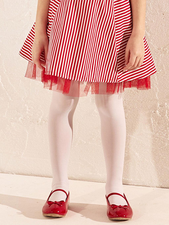 Kırmızı Kız Çocuk 25-30 Numara Babet Ayakkabı
