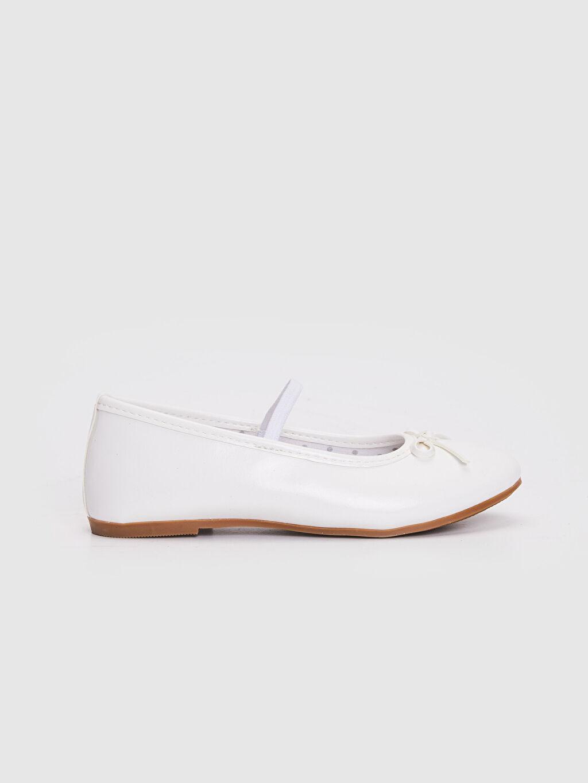 Beyaz Kız Çocuk 31-36 Numara Babet Ayakkabı 0S2334Z4 LC Waikiki