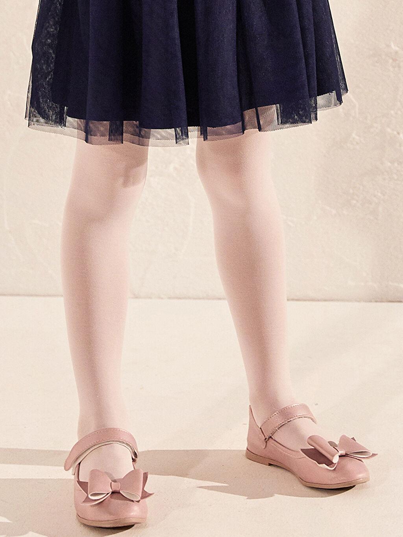 Pembe Kız Çocuk 31-36 Numara Babet Ayakkabı
