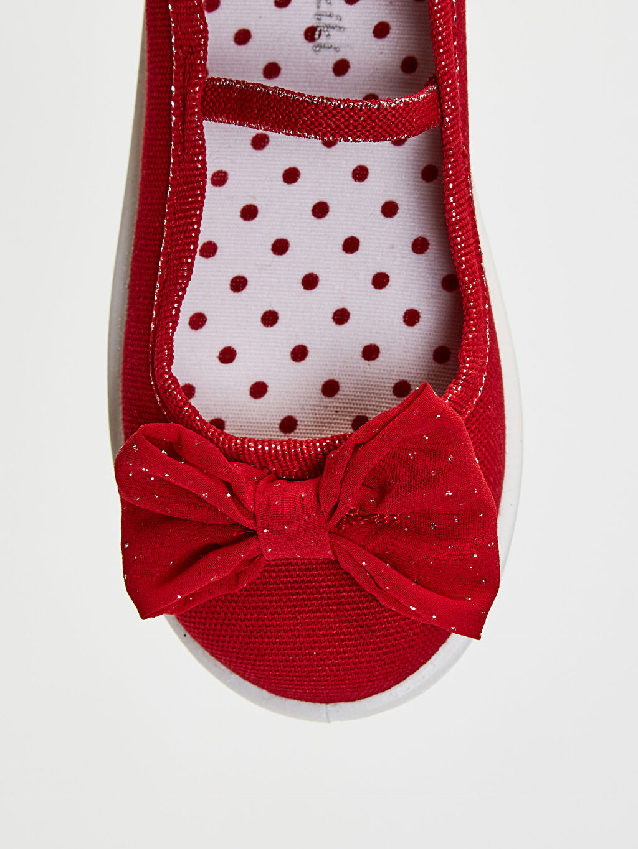 LC Waikiki Kırmızı Kız Çocuk 30-35 Numara Bez Babet Ayakkabı