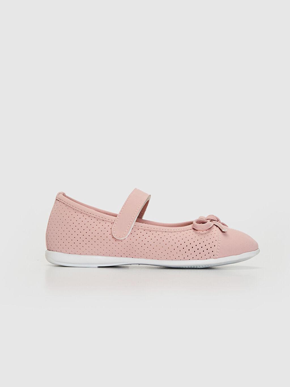 Pembe Kız Çocuk Fiyonk Detaylı Babet Ayakkabı 0S2351Z4 LC Waikiki