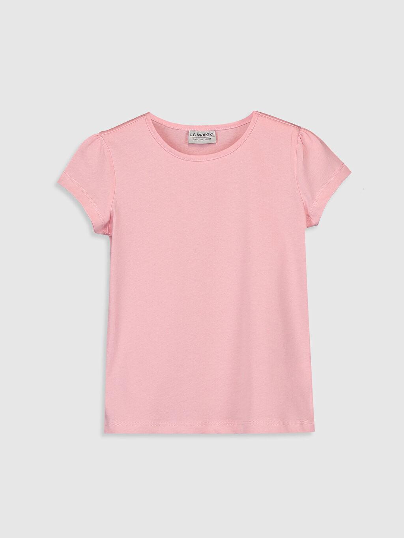 Pembe Kız Çocuk Pamuklu Basic Tişört 0S2543Z4 LC Waikiki