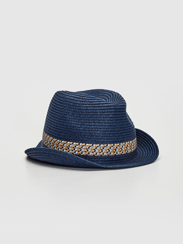 Lacivert Erkek Çocuk Fötr Şapka 0S3339Z4 LC Waikiki