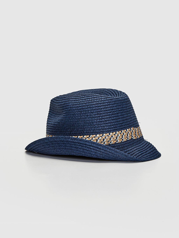%12 Polyester %88 Kağıt Şapka Erkek Çocuk Fötr Şapka