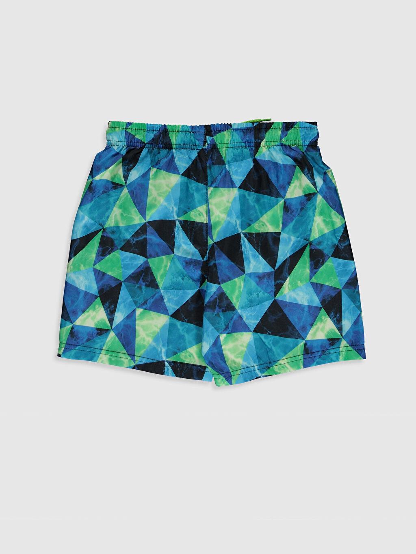 %100 Polyester %100 Polyester Mikrofiber Baskılı Standart Yüzme Şort Erkek Çocuk Hızlı Kuruyan Deniz Şortu