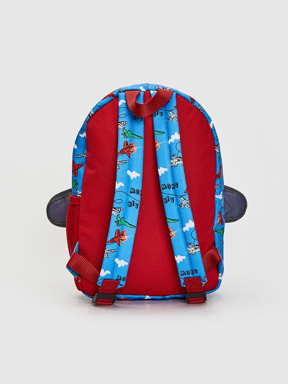 %100 Polyester %100 Polyester  Erkek Çocuk Uçak Silüetli Sırt Çantası