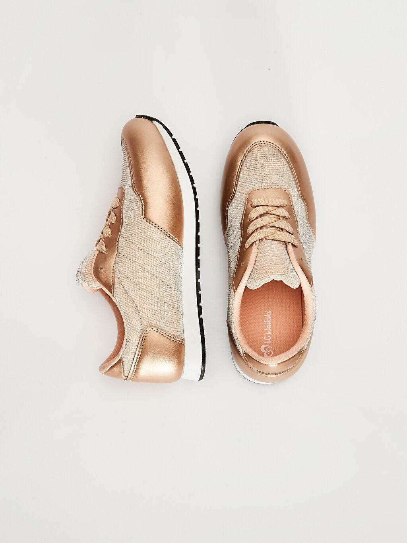 Kız Çocuk Parlak Görünümlü Günlük Ayakkabı