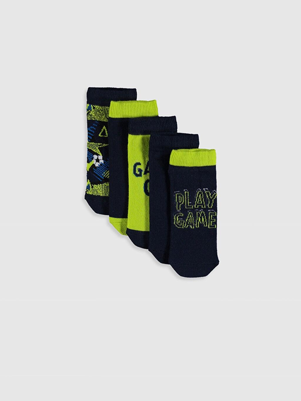 Çok Renkli Erkek Çocuk Patik Çorap 5'li 0S4471Z4 LC Waikiki