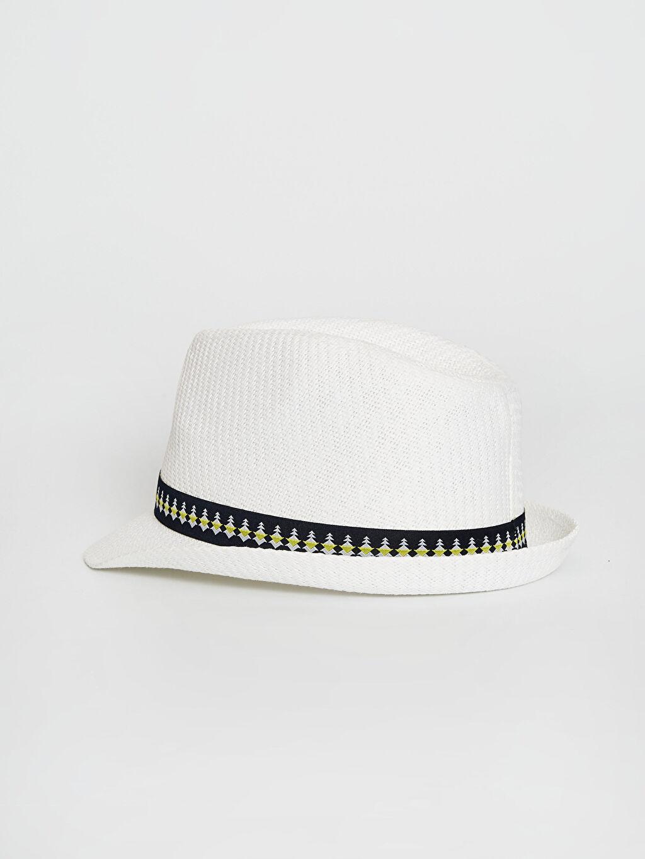 Erkek Çocuk Erkek Çocuk Biye Detaylı Hasır Fötr Şapka