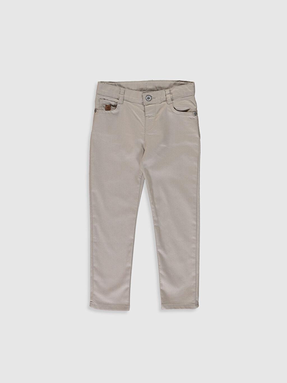 Bej Erkek Çocuk Super Slim Gabardin Pantolon 0S4879Z4 LC Waikiki