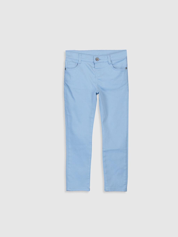 %66 Pamuk %30 Polyester %4 Elastan Aksesuarsız Düz Gabardin Normal Bel Astarsız Dar Beş Cep Pantolon Orta Kalınlık Erkek Çocuk Pantolon
