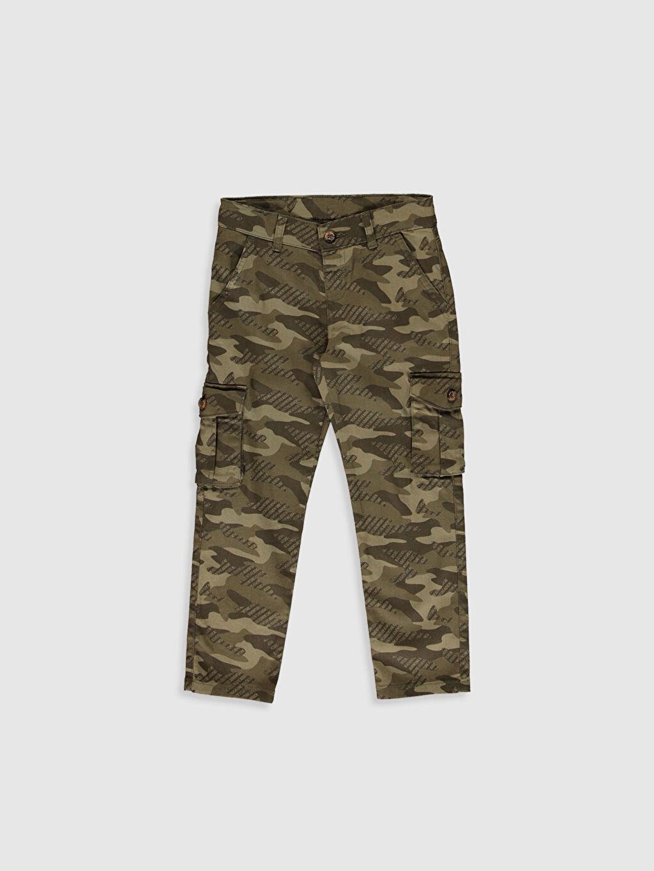 Haki Erkek Çocuk Kamuflaj Desenli Kargo Pantolon 0S4904Z4 LC Waikiki