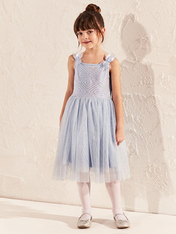 Mavi Kız Çocuk Tül Elbise 0S5041Z4 LC Waikiki