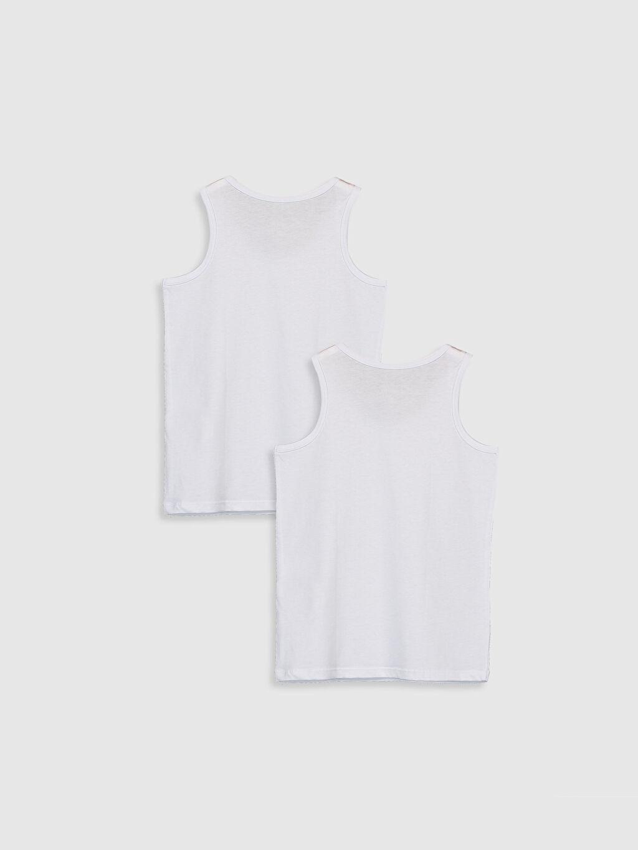 %100 Pamuk Standart İç Giyim Üst Erkek Çocuk Pamuklu Atlet 2'li