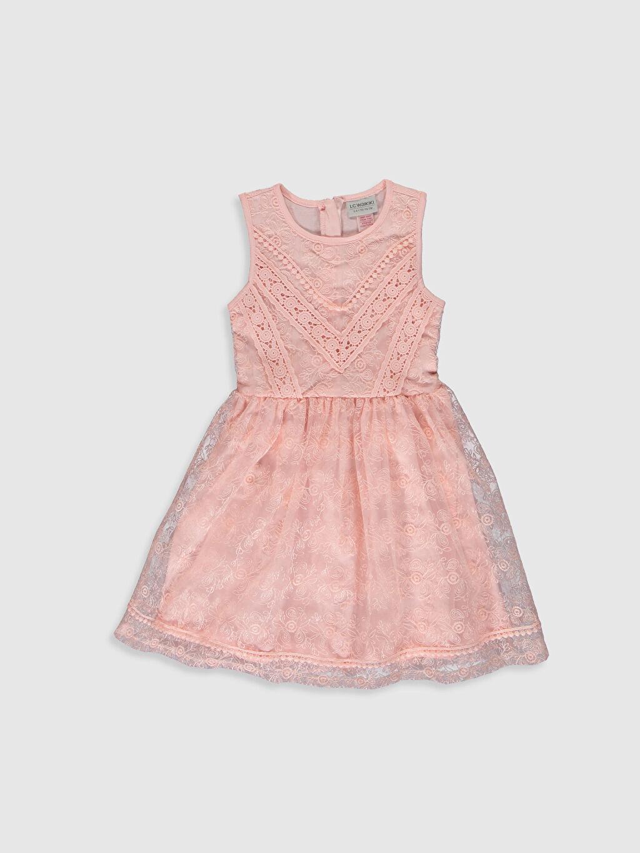 Pembe Kız Çocuk Dantel Elbise 0S5437Z4 LC Waikiki