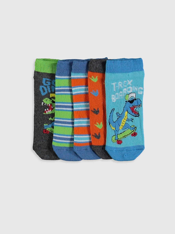Çok Renkli Erkek Çocuk Patik Çorap 5'li 0S6026Z4 LC Waikiki
