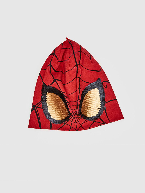 Kırmızı Erkek Çocuk Spiderman Lisanslı Triko Bere 0S6309Z4 LC Waikiki