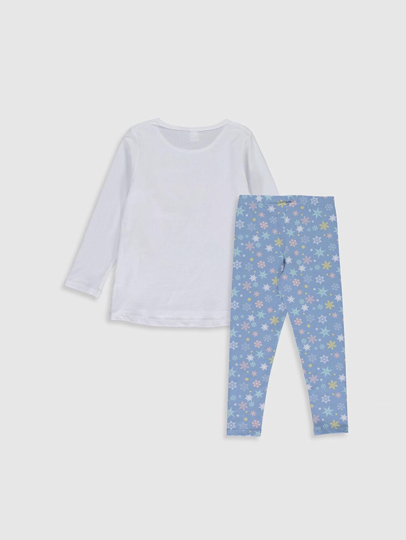 %100 Pamuk Standart Pijama Takım Frozen Süprem Kız Çocuk Frozen Baskılı Pamuklu Pijama Takımı