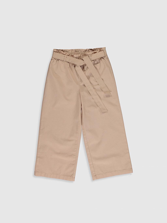 Bej Kız Çocuk Pamuklu Pantolon 0S6680Z4 LC Waikiki