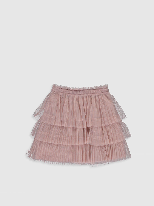 %100 Polyester %100 Pamuk Mini Düz Kız Çocuk Fırfırlı Tüllü Etek