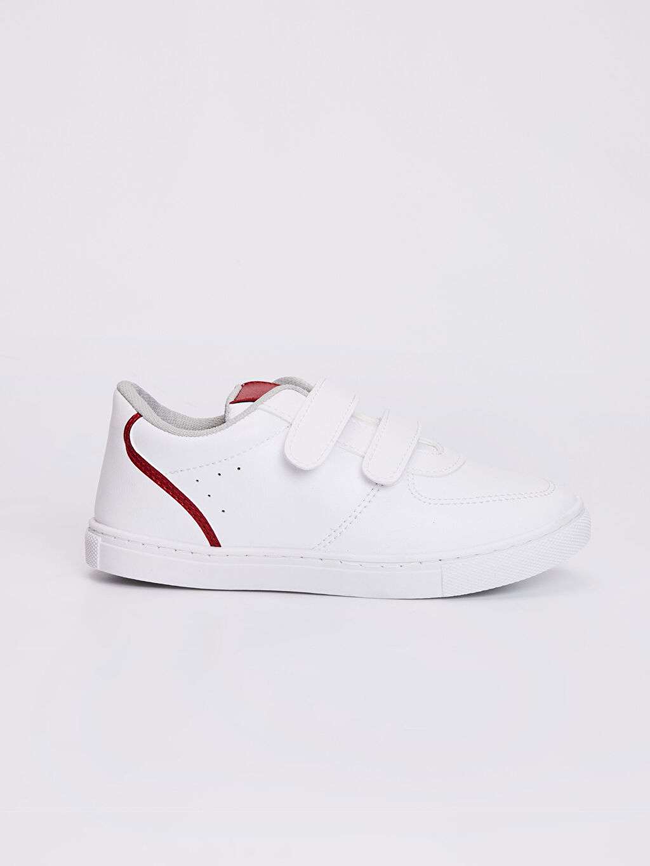 Beyaz Erkek Çocuk 31-38 Numara Cırt Cırtlı Sneaker 0S6756Z4 LC Waikiki