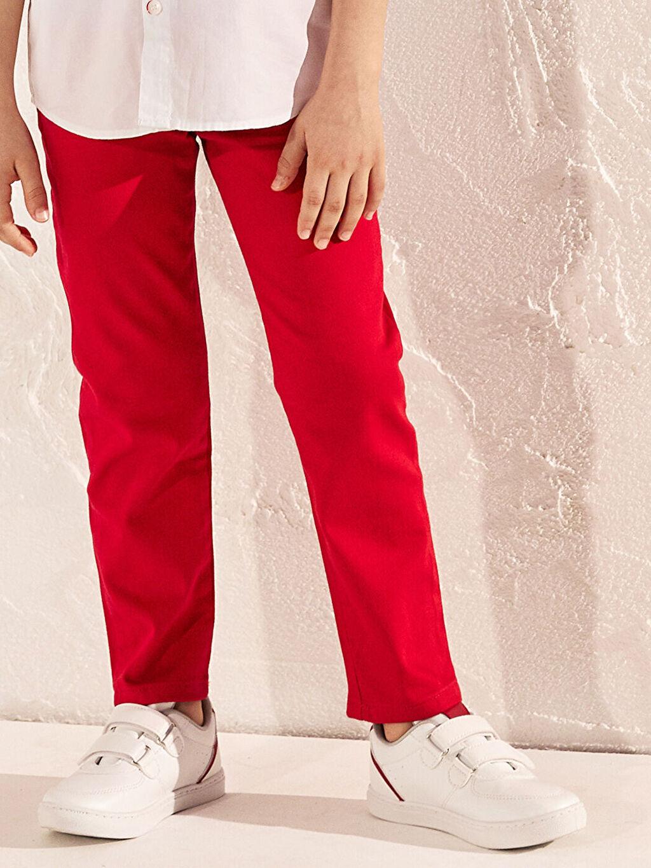 Beyaz Erkek Çocuk 31-38 Numara Cırt Cırtlı Sneaker