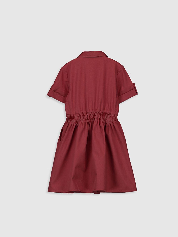 %100 Pamuk Mini Düz Kız Çocuk Gömlek Elbise