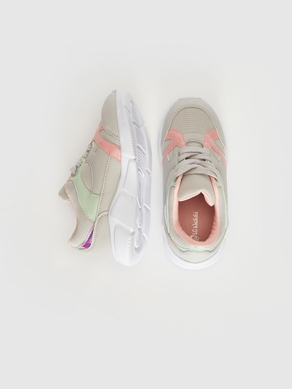 %0 Diğer malzeme (pvc) %0 Tekstil malzemeleri (%100 poliester)  Kız Çocuk Renk Bloklu Günlük Ayakkabı